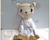 la troupe cat/ muslin dress & headband