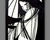 Limited edition - best gift - Sale - Geisha - handmade Chinese Papercutting