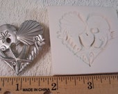 "Seashell Starfish Heart 1 1/2""  - Hard Polymer Clay mold for use with clay"