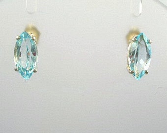 Sky Blue Topaz Earrings on SS
