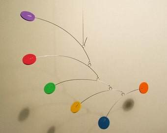 Itsy Very Small Baby Mobile Art Nursery Mobile Calder style Kinetic Home Decor