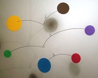 Lil'Cutie Foam Mobile Art for Babies Calder Baby Styled Kinetic Home Decor Nursery