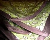 Reversable Splash Mat- Green Circles