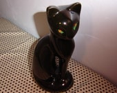 Taiwan--Vintage Black Cat Figurine--Statuesque