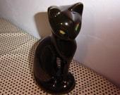 Taiwan--Vintage Black Cat Figurine--Statuesque