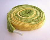 Hand Dyed Shoe Laces (45 inch length) Lemon Lime