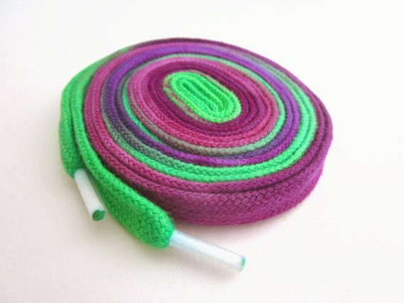 Hand Dyed Shoe Laces (45 inch length) Grape Pie
