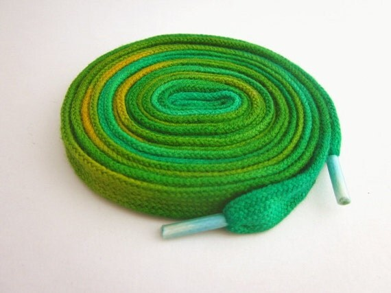 Hand dyed Shoe Laces (45 inch length) Pot of Gold