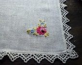 RESERVED FOR A. Two Vintage Lace Trimmed Linen Hanks