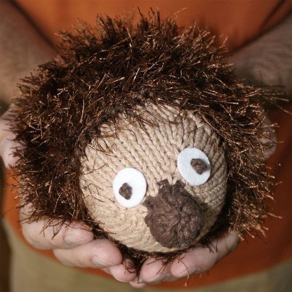 Hedgehog Slippers Knitting Pattern : Items similar to PDF Knitting Pattern- Rory the Hedgehog ...