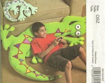 McCalls 5150 Plush Lizard Pattern 2 Sizes Designer Judi Lynn 63 and 24 Inches Floor Pillow Toy Sewing Pattern UNCUT