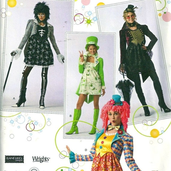 Simplicity 2525 Hat and Costume Pattern Leprechaun Clown Ringmaster Size 16 - 20 Bust 36 - 42 Uncut