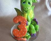 dragon birthday cake topper decoration children sculpture
