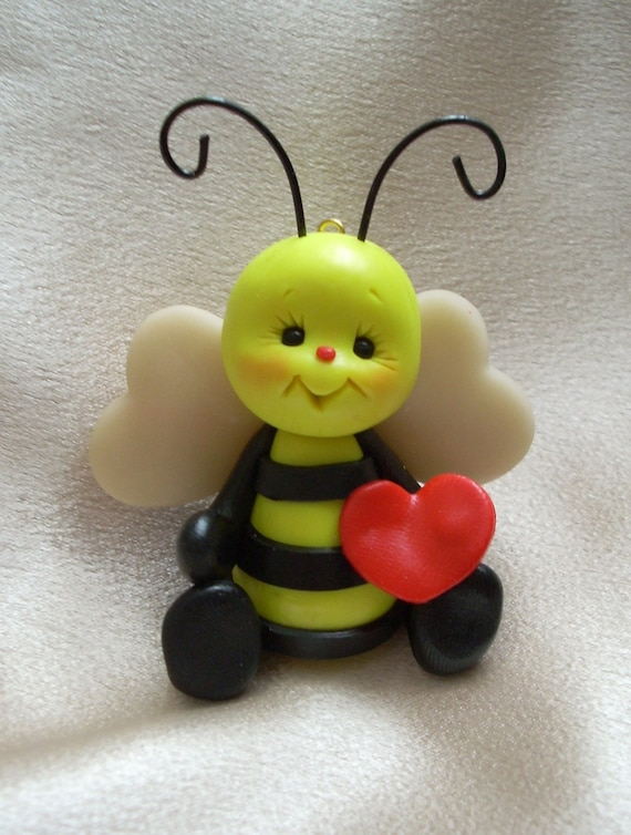 Honey Bee Bumblebee Bee Polymer Clay Insect Bug Sculpture
