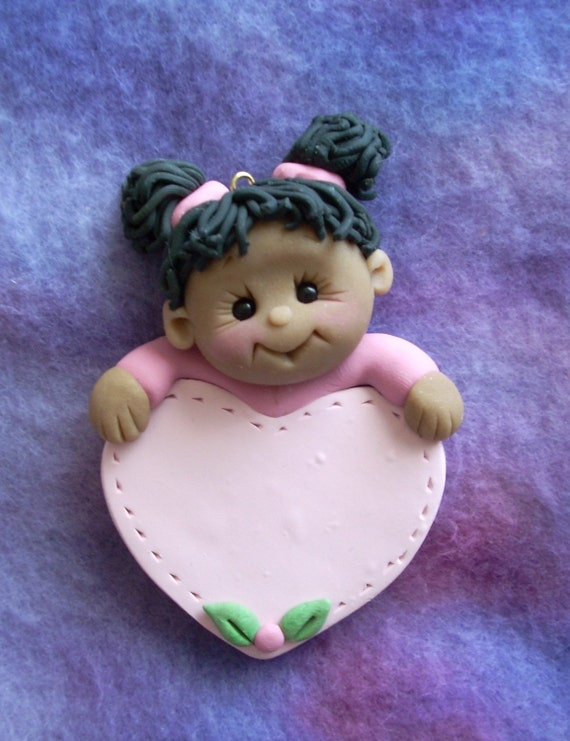 toddler personalized polymer clay Christmas ornament child