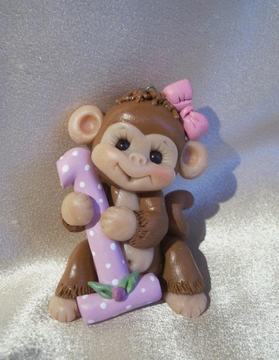Monkey St Birthday Cake Topper