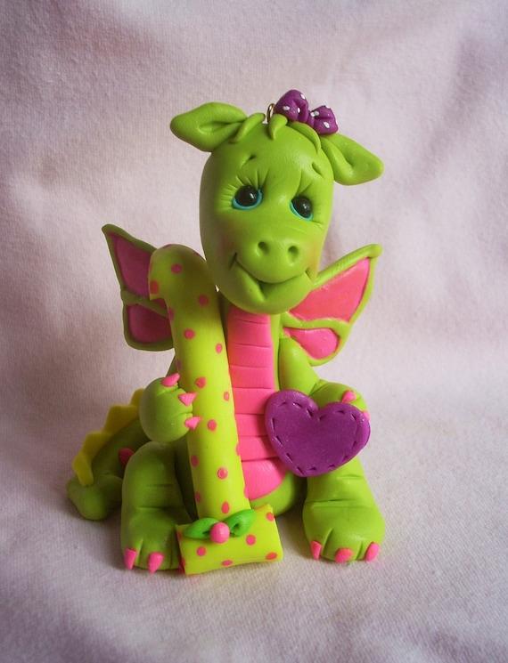 dragon birthday cake topper Christmas ornament decoration children sculpture