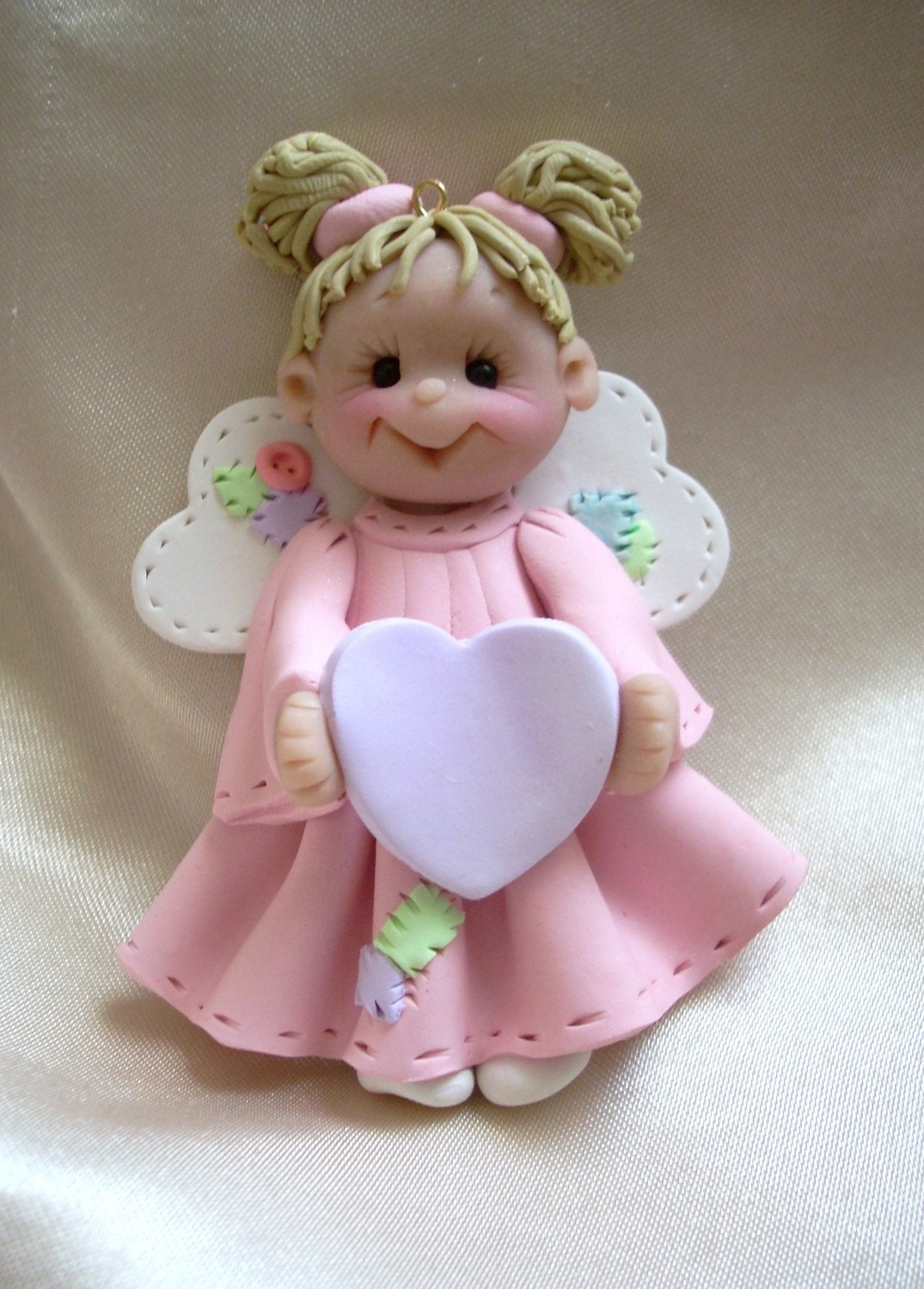polymer clay christmas angel ornament child personalized gift