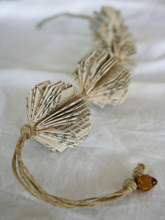 Origami Book Necklace