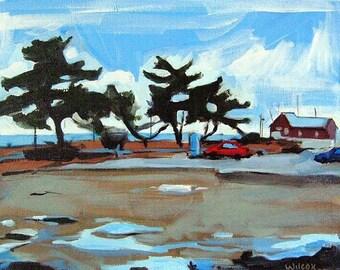 Sale - Parking Lot, Newburyport MA - original oil painting
