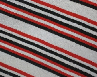 60's Polyester Striped Fabric