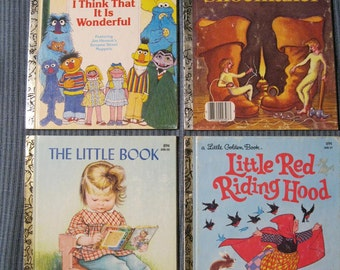 Four Little Golden Books from the 1980s