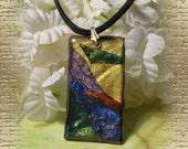Resin Art Pendant Necklace
