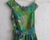green leaf tea dress III