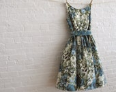 teal bloom tea dress ... ready to ship