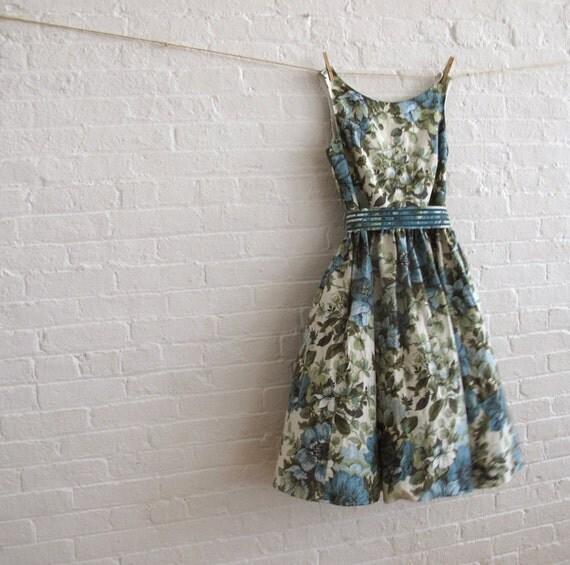 teal bloom tea dress ...