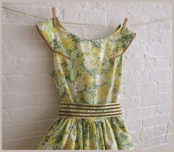 green dais tea dress
