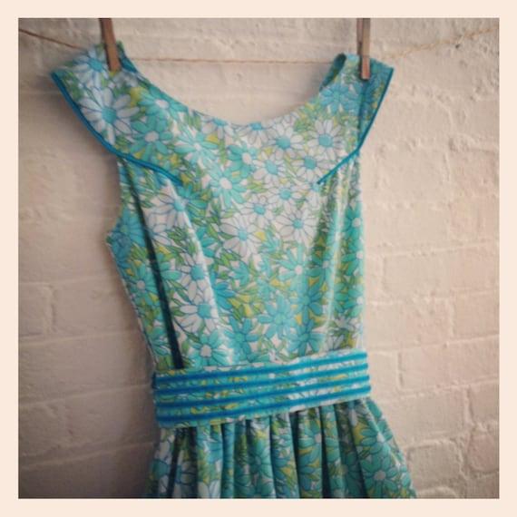 blue forest tea dress