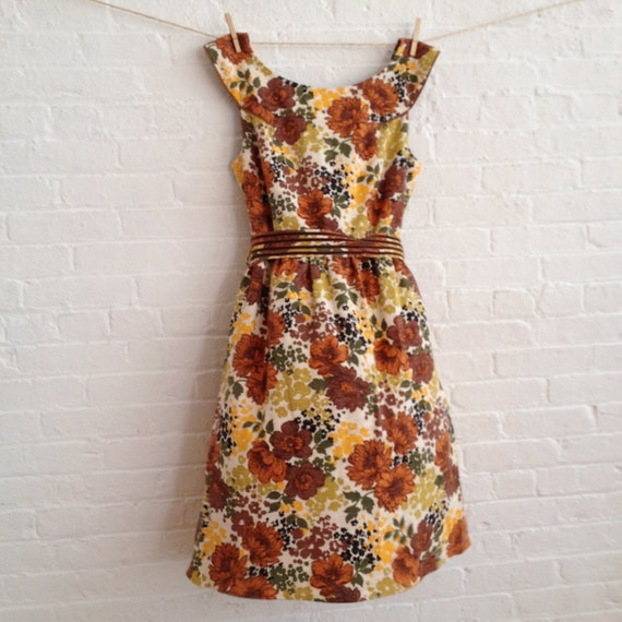 Autumn Bloom Tea Dress