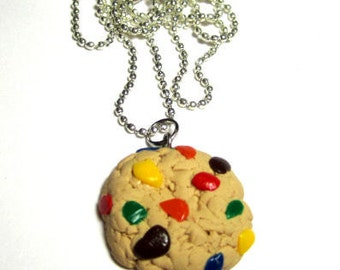 Rainbow Chocolate Chip Cookie  Necklace
