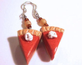 Pumpkin Pie Earrings-Sterling Sliver Hooks