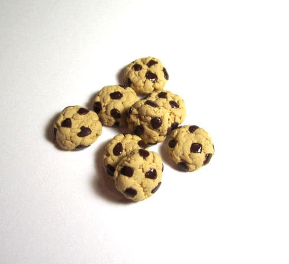 Chocolate Chip Cookie Beads Set Of 8