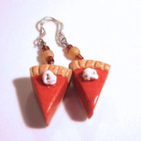Pumpkin Pie Earrings-Sterling Sliver Hooks