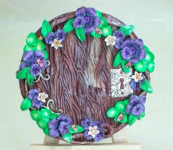 Fairy Door Magical Portal Purple Dragonfly Dreams
