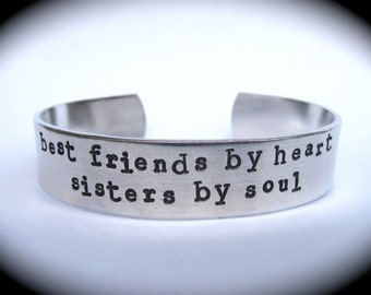 Best Friends and Sisters- Cuff Bracelet