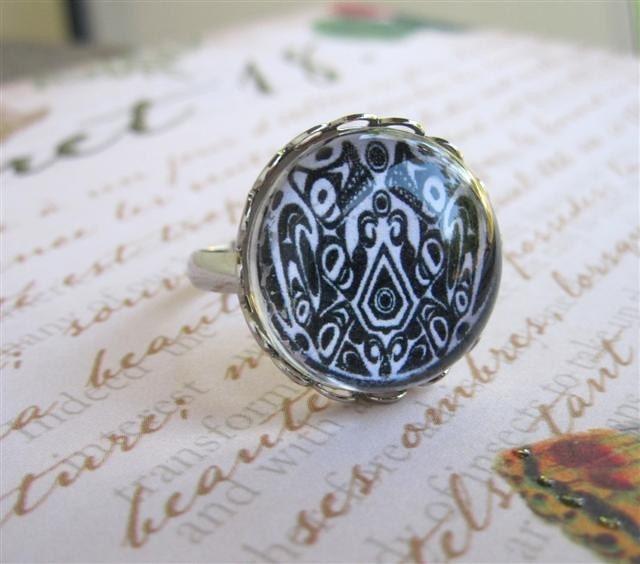 Quileute Symbol Jacob Black Tattoo Ring