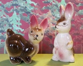 Occupied Japan Bunny Rabbit Salt and Pepper Shakers