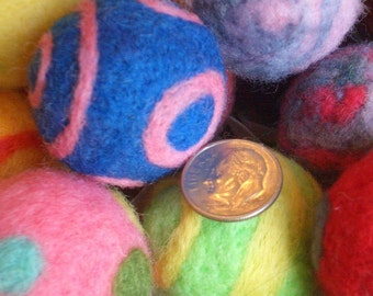 Cat Toy Ball - NEW Big Size - Needle Felted - One