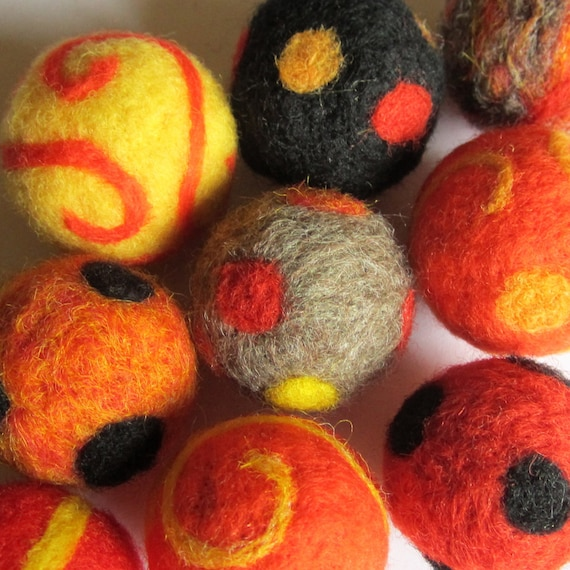 Cat Toy Ball - Needle Felted - One