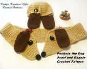 Crochet Pockets the Dog Beanie and Scarf Pattern pdf