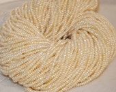 Seed Pearl Corn Potato Pearl Freshwater Pearl ivory white 2.5mm-3mm-----15 inches full strand 250 plus pieces