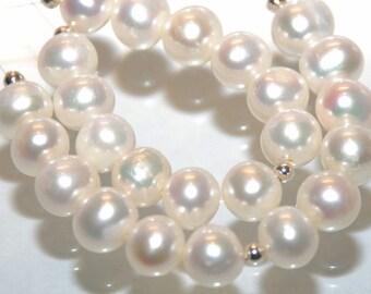 8-8.5mm Round Potato Genuine freshwater Pearl ---Ivory white Color---12 pcs set----RP1002
