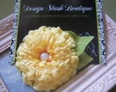 CLEARANCE - Pale Yellow Bloom Hair Clip with White Pearl Embellishment and Netting - Design Stash Collection