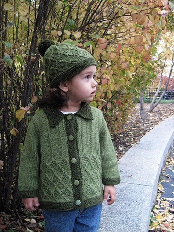 Adam and Eve Unisex Baby/Toddler Sweater and Hat - Knitting Pattern by Sami Kaplan