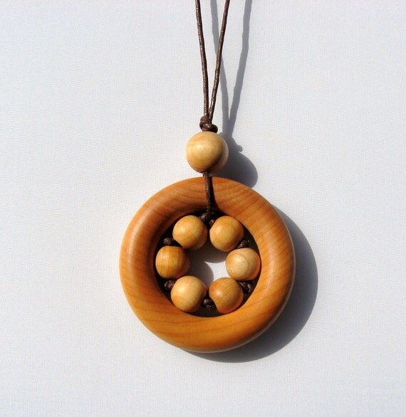 Grandma's Little Sunshine All wood Nursing Necklace