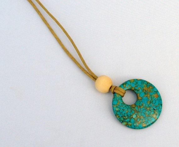 Mosaic Turquoise Nursing Necklace